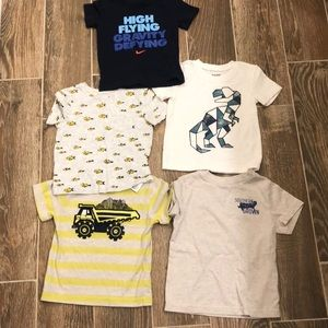 Other - LOT (all 5 included in price) boy 2t shirts